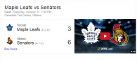 Game 8: Toronto Maple Leafs VS Ottawa Senators