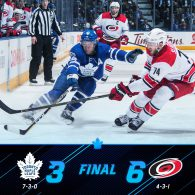 Game 10: Toronto Maple Leafs VS Carolina Hurricanes