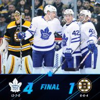 Game 19: Toronto Maple Leafs VS Boston Bruins