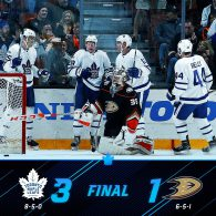 Game 13: Toronto Maple Leafs VS Anaheim Ducks