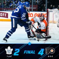 Game 11: Toronto Maple Leafs VS Philadelphia Flyers