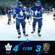 Game 16: Toronto Maple Leafs VS Vegas Golden Knights