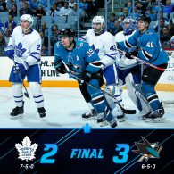 Game 12: Toronto Maple Leafs VS San Jose Sharks
