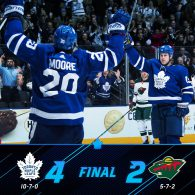 Game 17: Toronto Maple Leafs VS Minnesota Wild