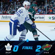 Game 33: Toronto Maple Leafs VS Minnesota Wild