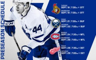Maple Leafs Announce 2018 NHL Preseason Schedule