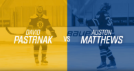 Bauer Hockey: Auston Matthews VS David Pastrnak in Accuracy Shooting