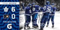 Game 24: Philadelphia Flyers VS Toronto Maple Leafs (W 6-0)