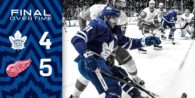 Game 29: Detroit Red Wings VS Toronto Maple Leafs (L 5-4 OT)