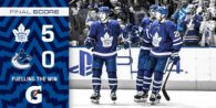 Game 41: Vancouver Canucks VS Toronto Maple Leafs (W 5-0)