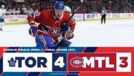Game 54: Toronto Maple Leafs VS Montreal Canadiens (OTW 4-3)