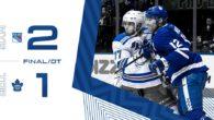 Game 75: New York Rangers VS Toronto Maple Leafs (OTL 2-1)
