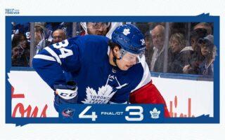 Game 10: Columbus Blue Jackets @ Toronto Maple Leafs (OTL 4-3)