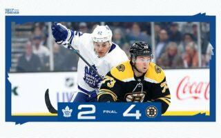 Game 11: Toronto Maple Leafs @ Boston Bruins (L 4-2)