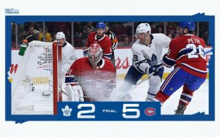 Game 13: Toronto Maple Leafs @ Montreal Canadiens (L 5-2)
