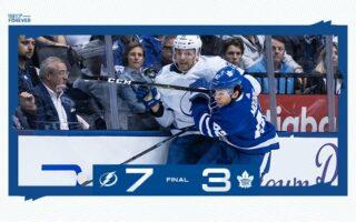 Game 5: Tampa Bay Lightning @ Toronto Maple Leafs (L 7-3)