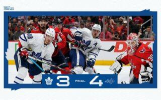 Game 8: Toronto Maple Leafs @ Washington Capitals (L 4-3)