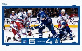 Game 40: New York Rangers @ Toronto Maple Leafs (OTL 5-4)