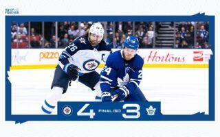 Game 45: Winnipeg Jets @ Toronto Maple Leafs (SOL 4-3)